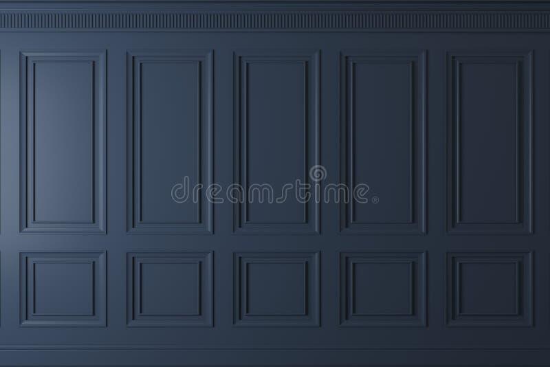 Pared clásica de los paneles de madera oscuros ilustración del vector