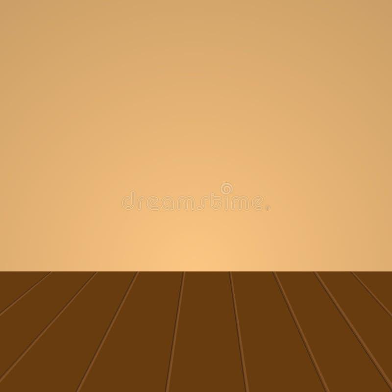 Pared con un piso de madera libre illustration