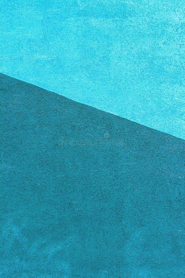 Pared con una textura del yeso pintada en dos colores - Azul turquesa pared ...