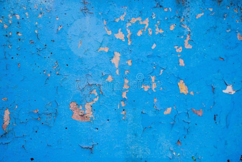 Pared con viejo estuco azul pelado fotografía de archivo
