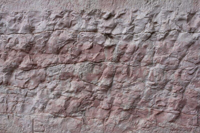 Pared concreta de la textura de la piedra áspera cruda antigua vacía de la naturaleza para el restaurante retro, página web imagenes de archivo