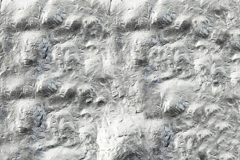Pared convexa de acero Hoja con los montones Textura moderna para los objetos del arte, juegos de ordenador foto de archivo libre de regalías
