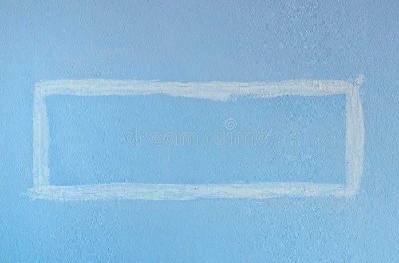 Pared cuadrada azul de la pintura fotos de archivo libres de regalías