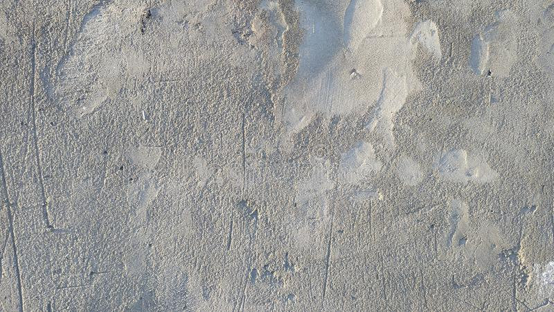 Pared cubierta con yeso gris del cemento grueso Fondo Primer fotografía de archivo