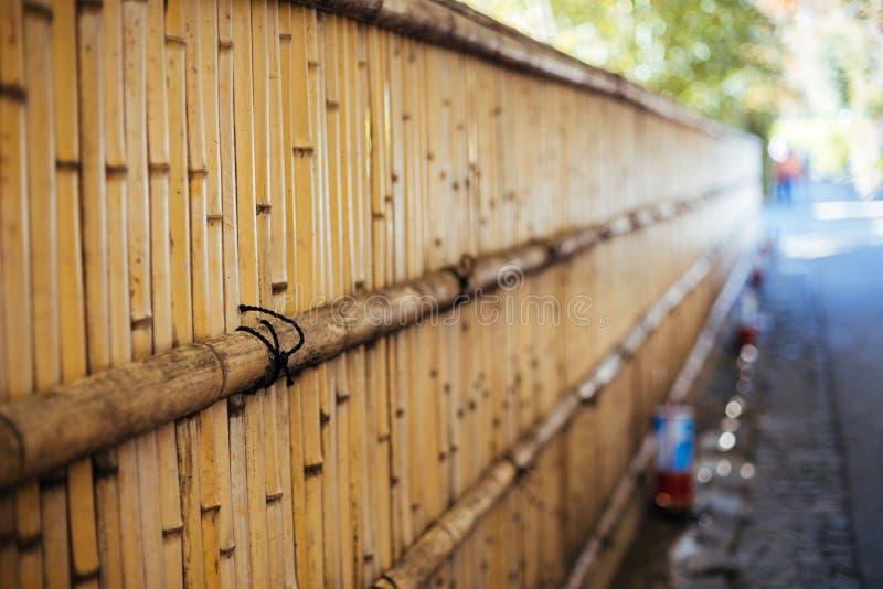 Pared de bambú en Arashiyama, Kyoto, Japón imagen de archivo libre de regalías