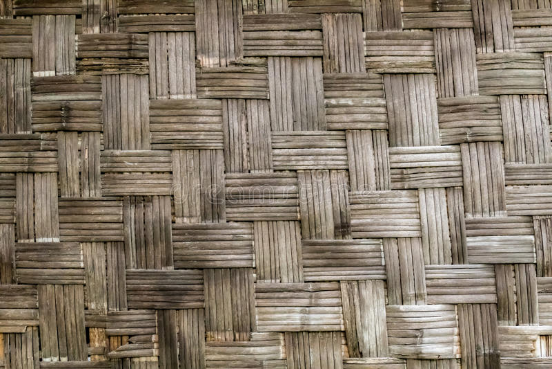 Pared de bambú vieja de la armadura fotos de archivo libres de regalías