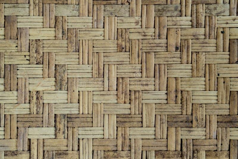 Pared de bambú vieja de la armadura imagen de archivo libre de regalías