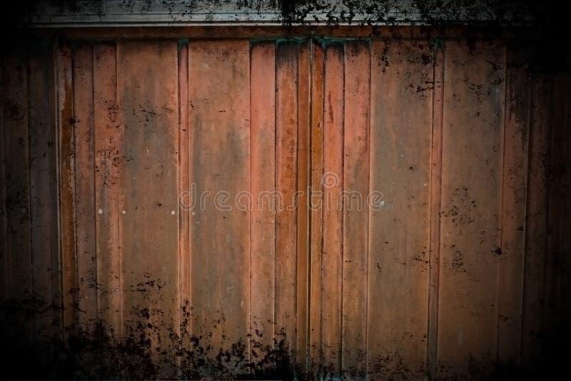 Pared de cobre de Grunge imagenes de archivo