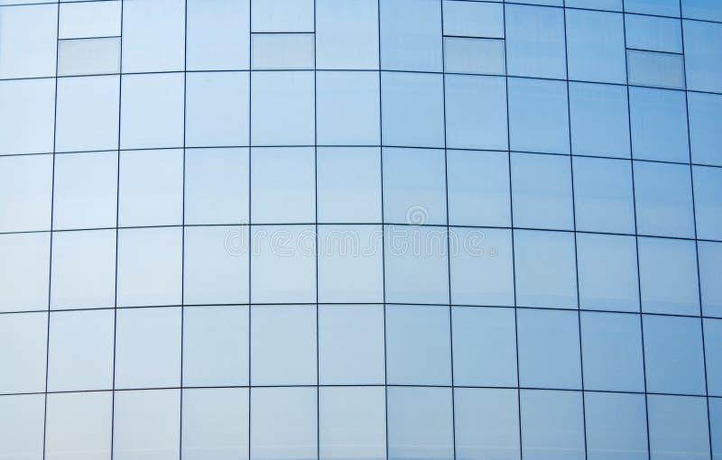 Pared de cortina de cristal imagen de archivo