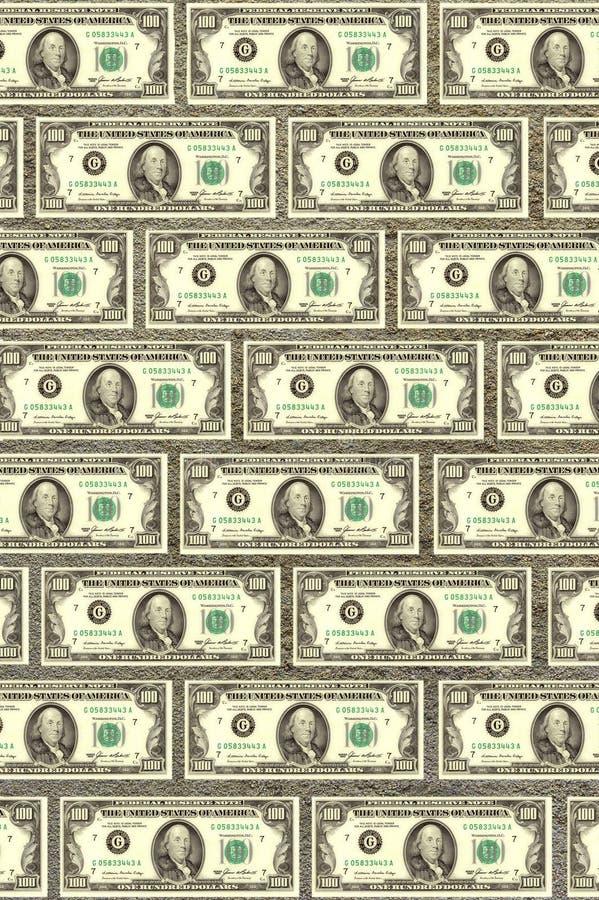 Pared de dólares, un fondo para el diseño imagen de archivo