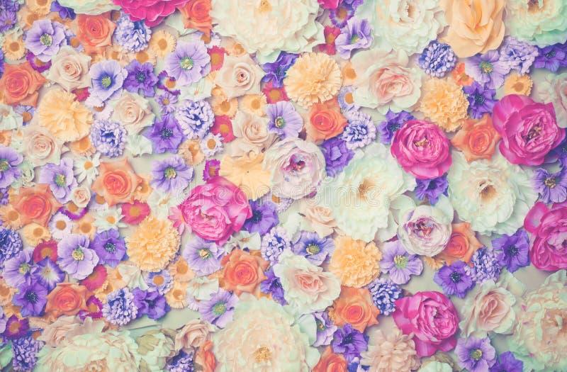 Pared de flores imagenes de archivo