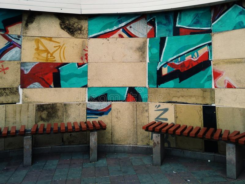 Pared de Graffity fotografía de archivo
