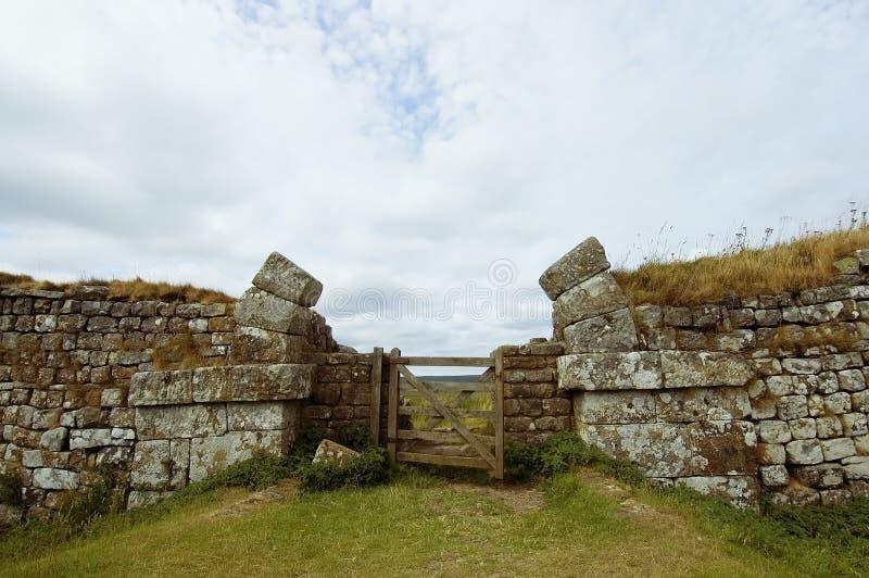 Pared de Hadrians imágenes de archivo libres de regalías