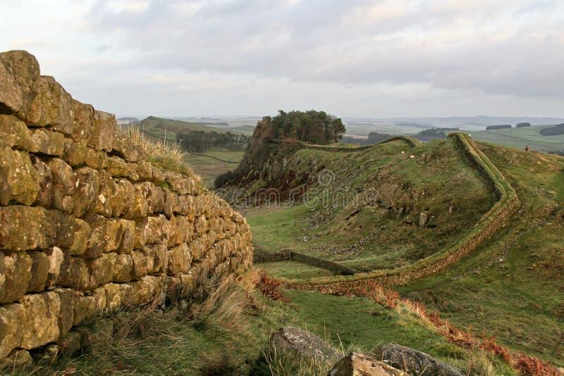Pared de Hadrians, cerca de Housesteads imágenes de archivo libres de regalías