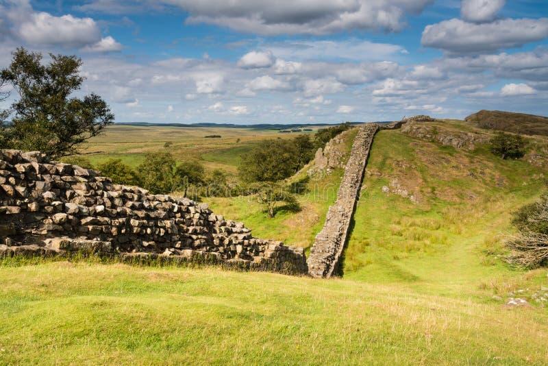 Pared de Hadrians cerca de Walltown foto de archivo libre de regalías