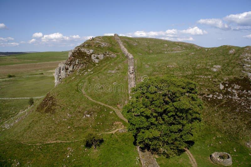 Pared de Hadrians que recorre fotos de archivo libres de regalías