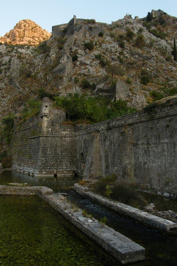 Pared de Kotor imagen de archivo libre de regalías