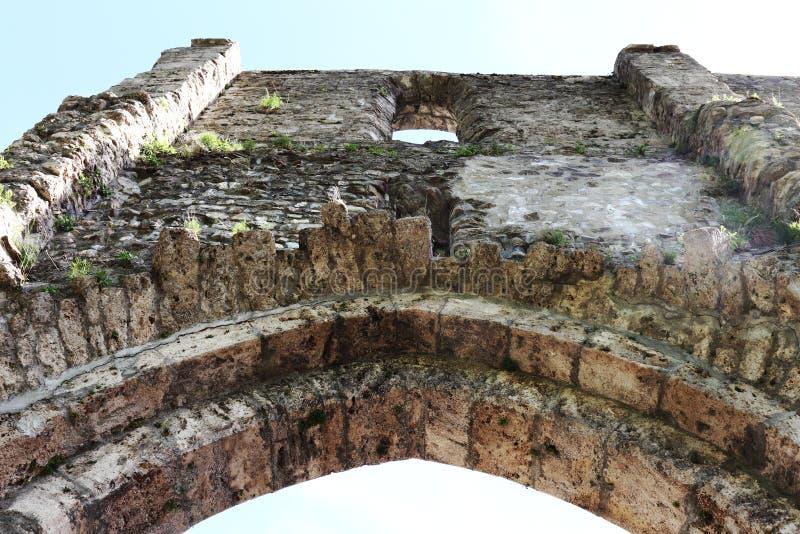 Pared de la abadía de Aulps, Saint-Jean-d'Aulps, Alta-Saboya, Alpes franceses fotos de archivo