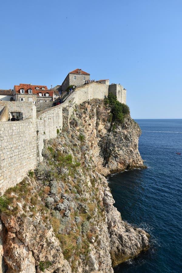 Pared de la ciudad de Dubrovnik fotografía de archivo