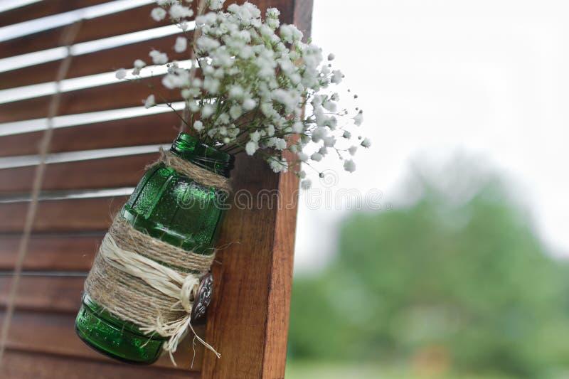 Pared de la decoración de la boda imágenes de archivo libres de regalías