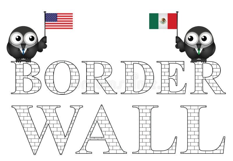 Pared de la frontera de los E.E.U.U. México libre illustration