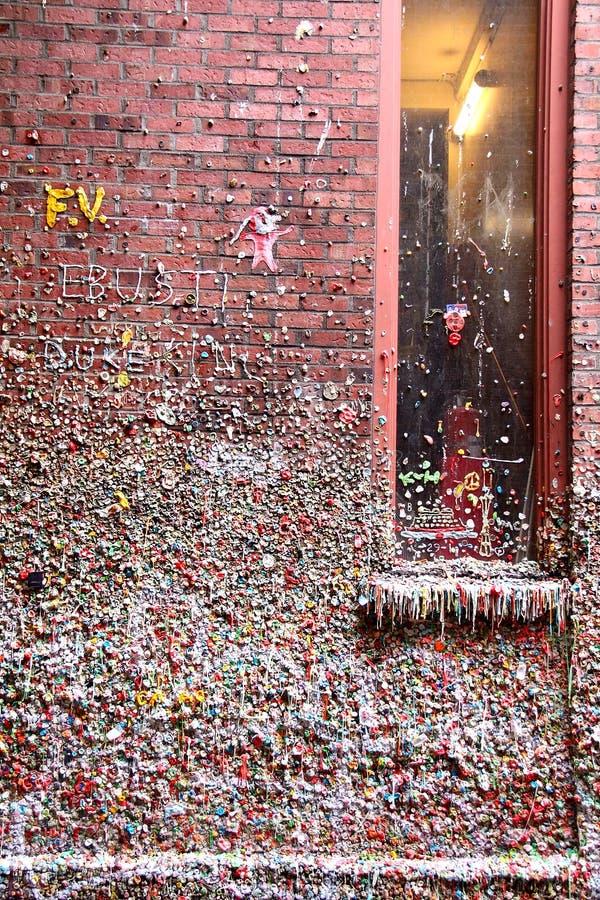 Pared de la goma, Seattle, WA imagen de archivo libre de regalías