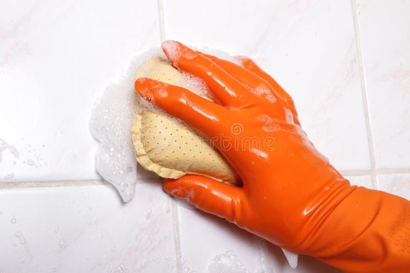 Pared de la limpieza. imagen de archivo libre de regalías