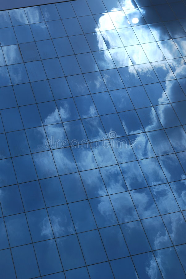 Pared de la nube imagen de archivo libre de regalías