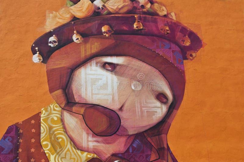 Pared de la pintada o de la mujer con la asociación del epistrophe libre illustration