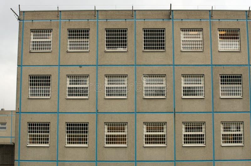 Pared de la prisión fotografía de archivo