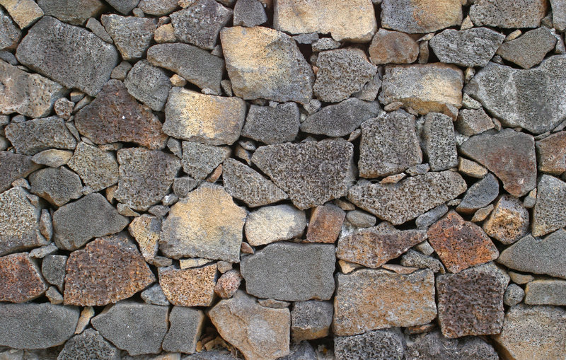 Pared de la roca volcánica imágenes de archivo libres de regalías