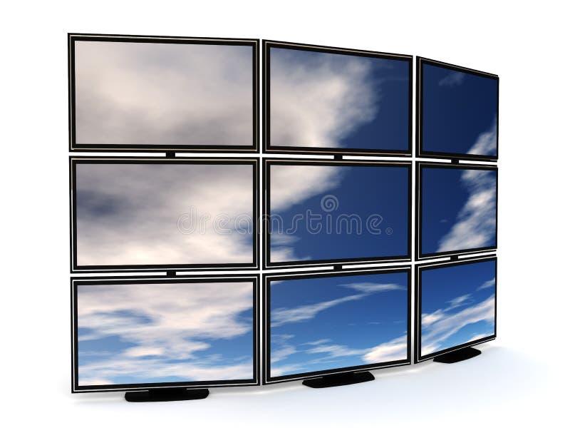 Pared de la TV ilustración del vector