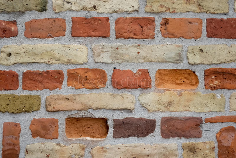 Pared de ladrillo anaranjada imagen de archivo