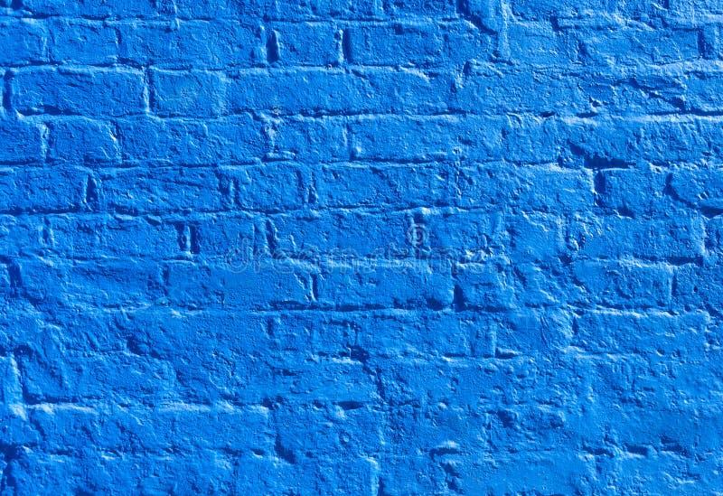 Pared de ladrillo azul imagen de archivo