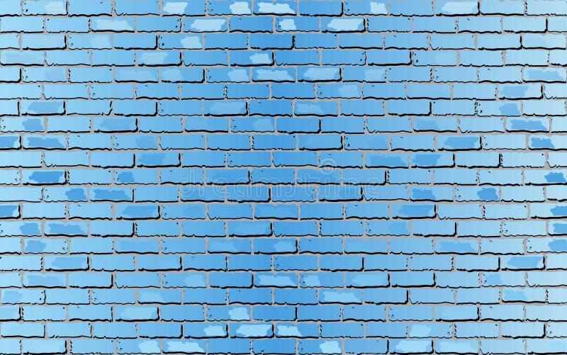 Pared de ladrillo azul clara brillante libre illustration