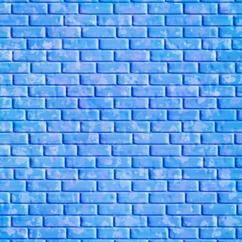 Pared de ladrillo azul, fondo ilustración del vector