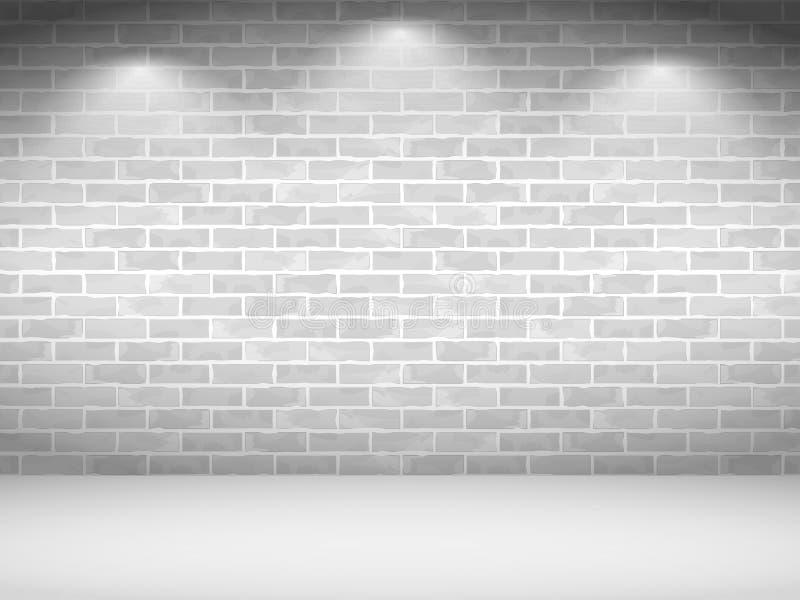 Pared de ladrillo blanca stock de ilustración