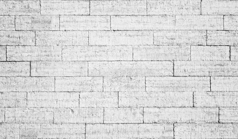 Pared de ladrillo blanca vieja imagen de archivo libre de regalías