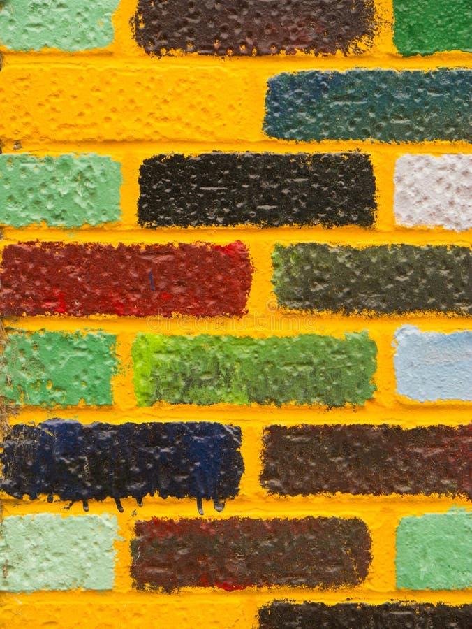 pared de ladrillo Brillante-coloreada fotografía de archivo