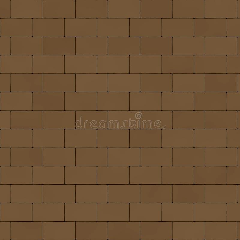 Pared de ladrillo de las piedras de pavimentación stock de ilustración