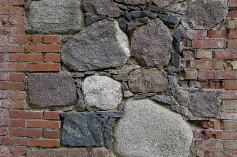 Pared de ladrillo de piedra imagen de archivo libre de regalías