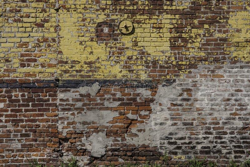 Pared de ladrillo en New Orleans fotos de archivo