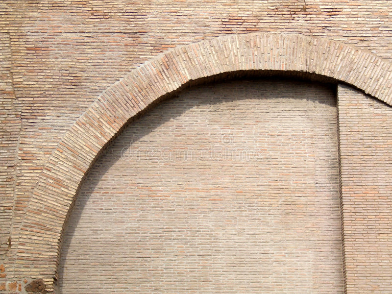 Pared de ladrillo en Roma imágenes de archivo libres de regalías