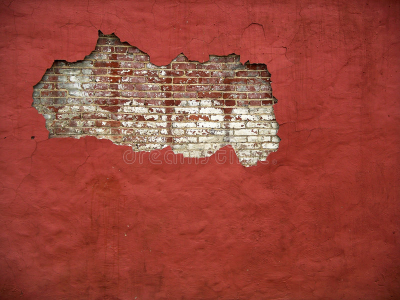 Pared de ladrillo III (color) fotos de archivo