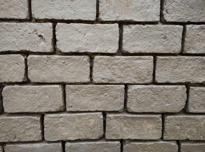 Pared de ladrillo marrón del rectángulo Fondo wallpaper Construcción imagen de archivo