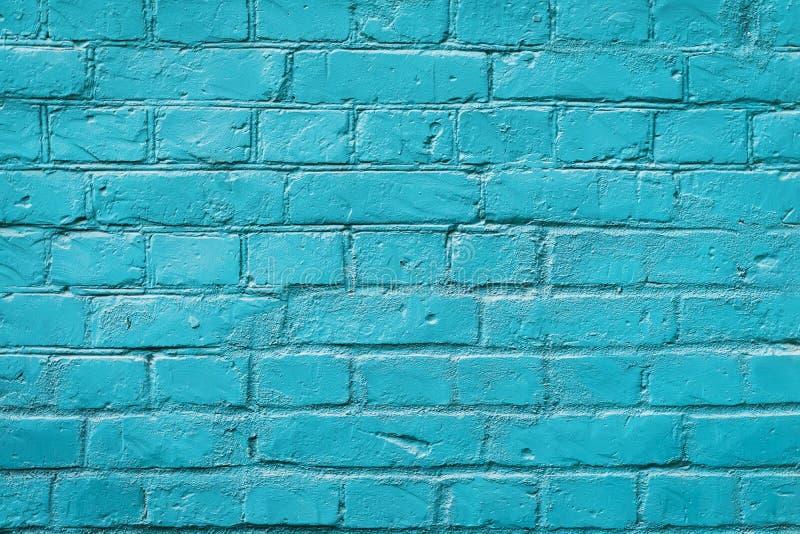 Pared de ladrillo pintada, color azul, fondo urbano Textura horizontal Para el contexto abstracto, modelo, papel pintado o imagenes de archivo