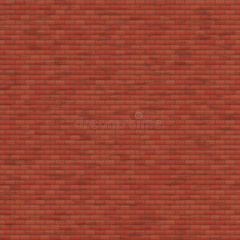 Pared de ladrillo roja stock de ilustración