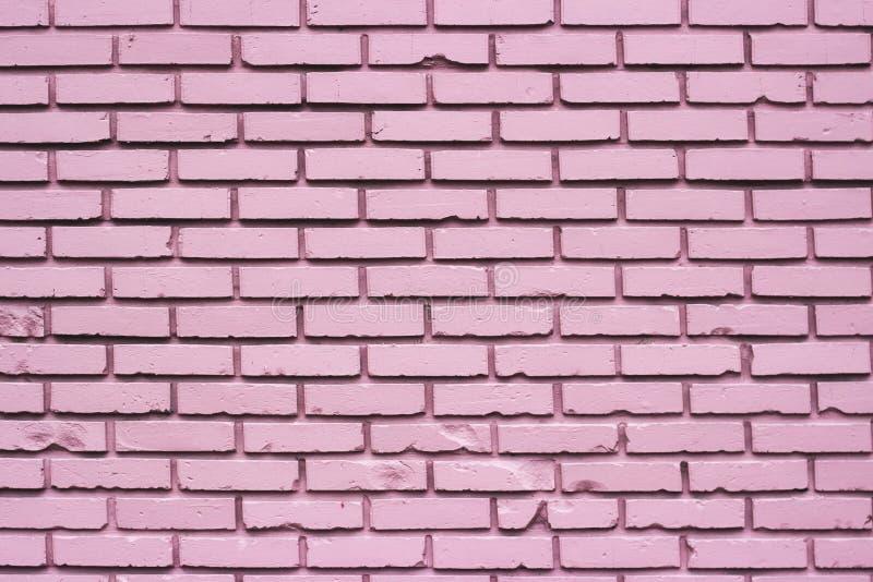 Pared de ladrillo rosada foto de archivo