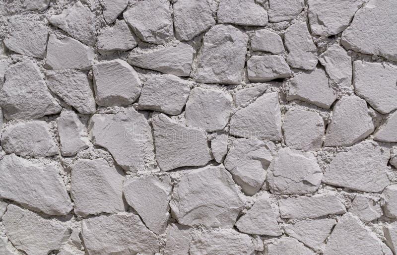 Pared de las piedras blancas foto de archivo libre de regalías