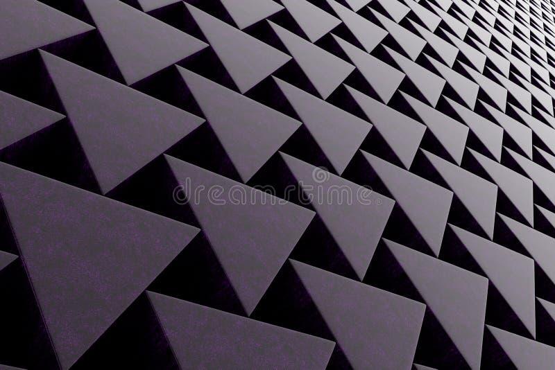 Pared de las prismas de piedra stock de ilustración